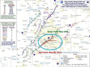 Moore Storm Track - National Weather Service/Dave Eichorn