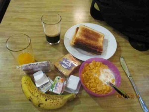 Barcelona Hostel Breakfast
