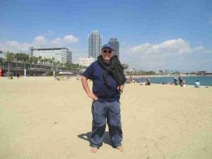 Beach Bum in Barcelona