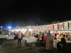 Djemaa El Fna Night Food Market Marrakesh