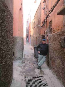 Me in Alley to Hostel Marrakesh
