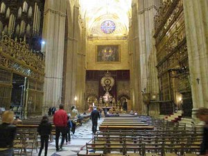 Seville Cathedral on Easter