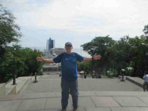 Me at Potemkin Steps Odessa Ukraine