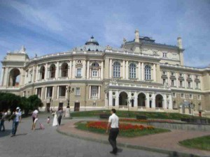 Opera Side View Odessa Ukraine