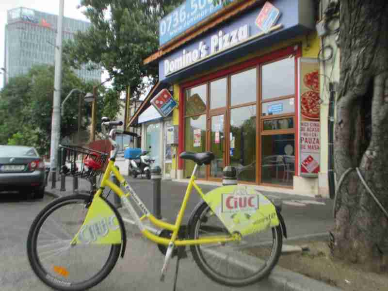 Rental Ride at Dominos Pizza Bucharest