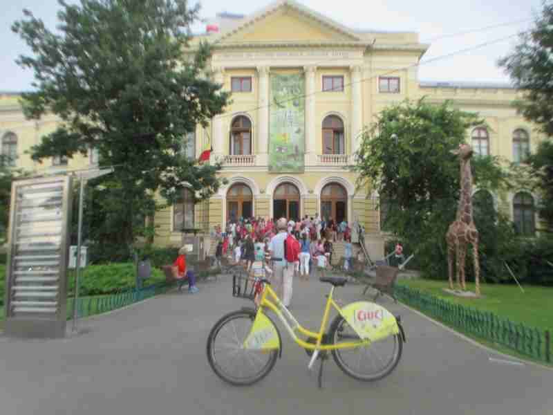 Rental Ride at Natural History Museum Bucharest
