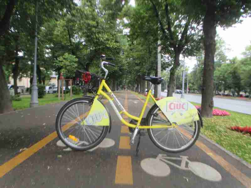 Rental Ride on Bicycle Path Bucharest
