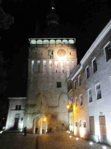 Clock Tower at Night Sighisoara Romania